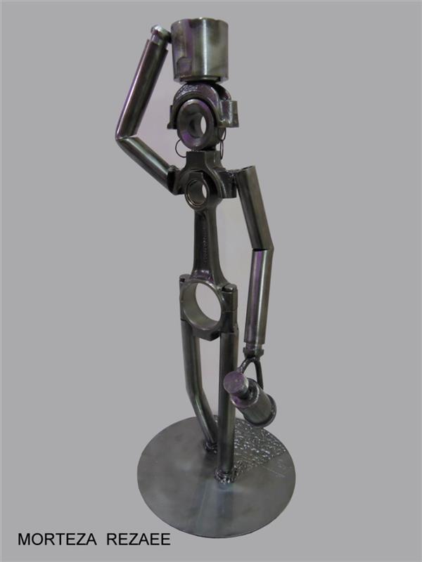 هنر سایر محفل سایر هنر ها مرتضی رضایی بانویی از قاره سیاه #مرتضی رضایی #مجسمه_ساز #مجسمه #قطعات_بازیافتی #morteza_rezaee#sculptor #بانویی_از_قاره_سیاه #sculptur