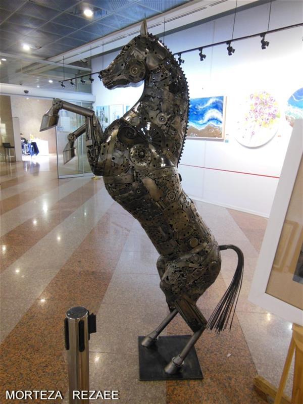 هنر سایر محفل سایر هنر ها مرتضی رضایی شکوه نجابت ارتفاع 2/10m با استفاده از قطعات بازیافتی  #مرتضی_رضایی #مجسمه_ساز #مجسمه #قطعات_بازیافتی #اسب #morteza_rezaee #sculptur #sculptor #horse