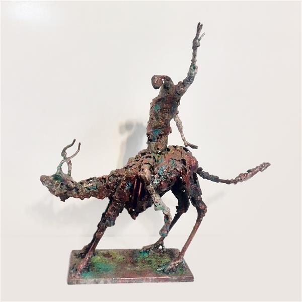 هنر سایر محفل سایر هنر ها رسول شوبیری نام اثر: تعادل - متریال : فلز - ارتفاع 40سانت
