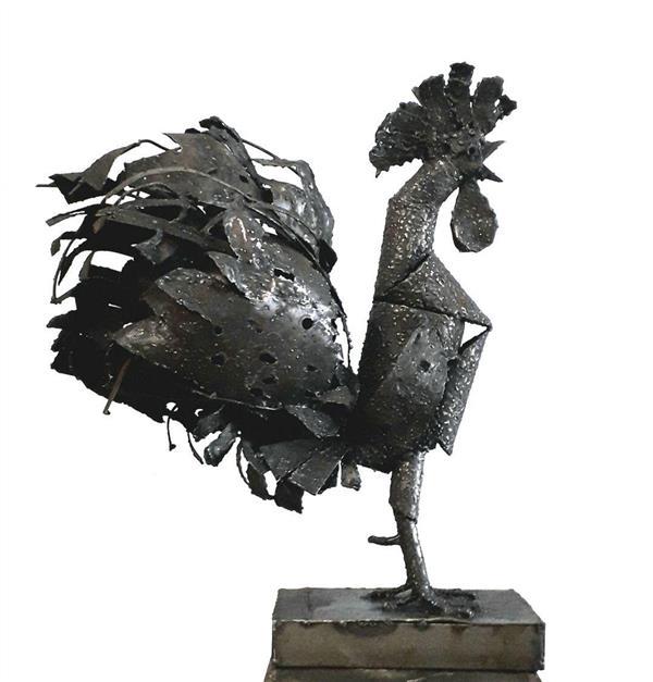 هنر سایر محفل سایر هنر ها Shalman Art Gallery #رضابراتی از مجموعه خروس فلز