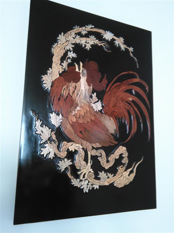 هنر سایر محفل سایر هنر ها مجتبی ایوبی خروس معرق مینیاتور برجسته