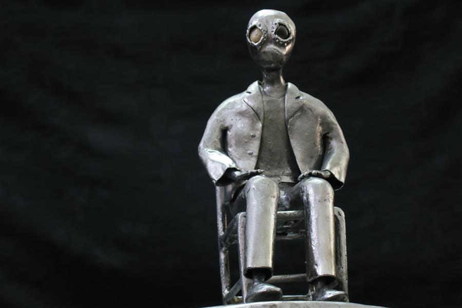 هنر سایر محفل سایر هنر ها ابراهیم یزدانی #مجسمه# فلزی#ضایعات# بدنه #اتومبیل#هنر