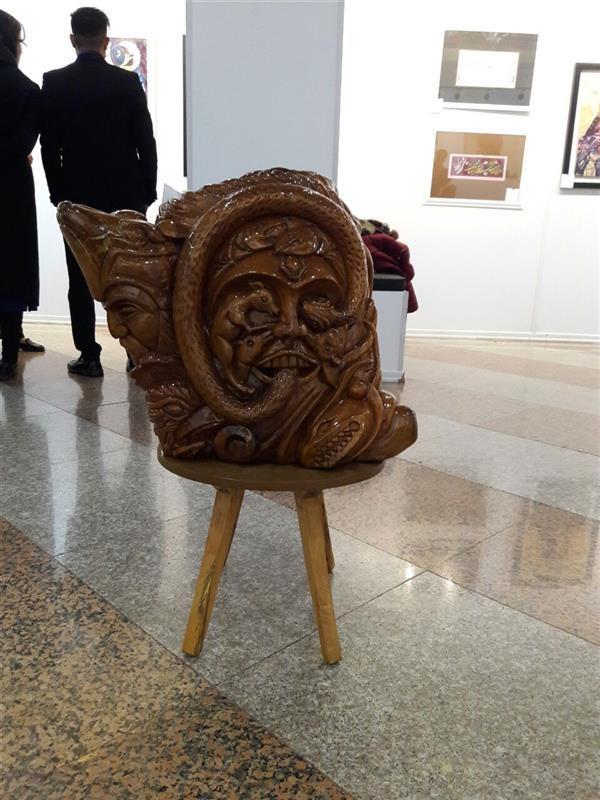 هنر سایر محفل سایر هنر ها محسن الله مرادی تنهدرخته چنار کارحجمی ذهنی مفهومی نام اثر انسان و اژدها