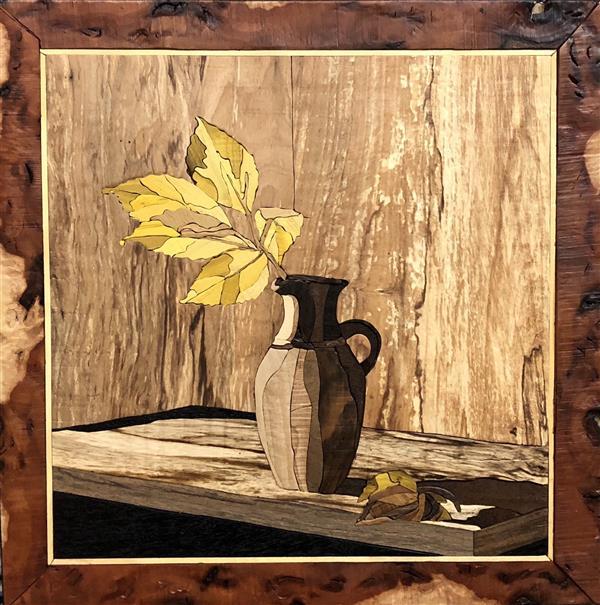 هنر سایر محفل سایر هنر ها شمس نام تابلو:کوزه.تکنیک:#معرق چوب.ابعاد:40*40.اثر حمیدرضا شمس خو