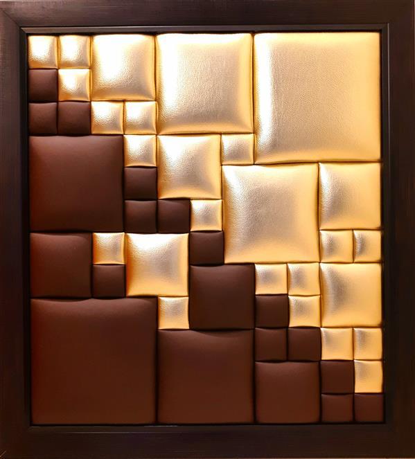 هنر سایر محفل سایر هنر ها الهام سیدقاسمی متریال:چرم مصنوعی، ابعاد:۶۱*۷۵