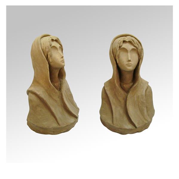 هنر سایر محفل سایر هنر ها سید علی ریحانی شرق # مجسمه #دختر #سکوت  جنس اثر: گِل رُس