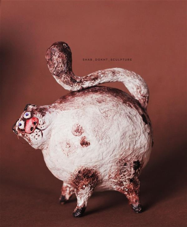 هنر سایر محفل سایر هنر ها shab_dokht_sculpture ابعاد15×15 متریال#پاپیه_ماشه