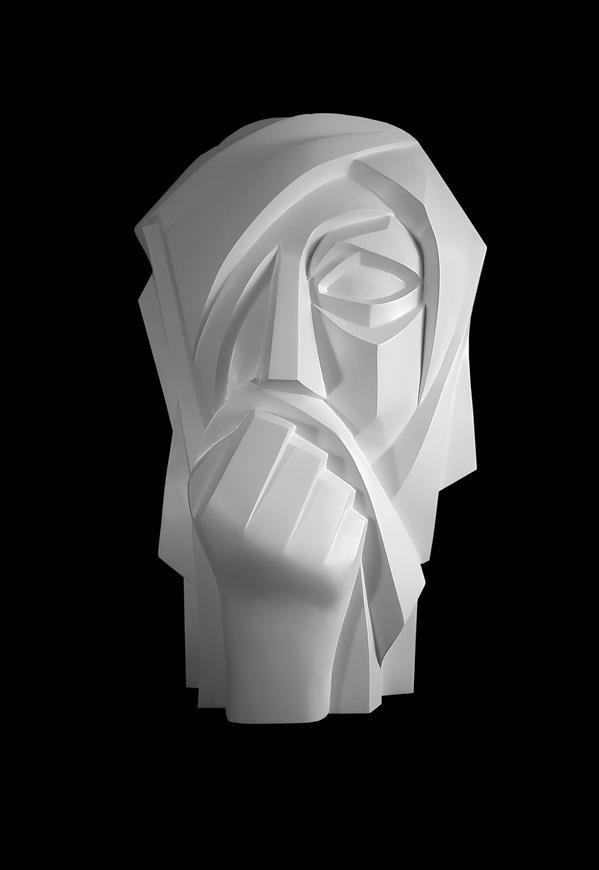 هنر سایر محفل سایر هنر ها نسرین یوسفی عنوان    دستار  جنس :فایبرگلاس# ابعاد :۴۰×۶۰×۲۰ س سال ساخت ۱۳۹۷ تک ادیشن