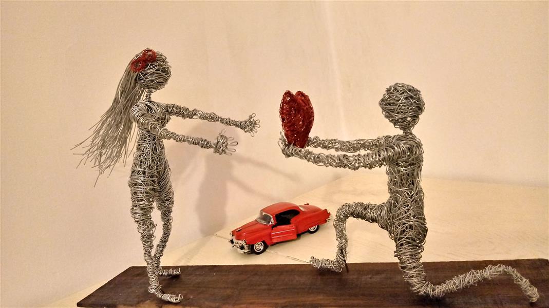 هنر سایر محفل سایر هنر ها حسین مشهدی Wireart.#love#.عشق#..هنر سیمی##مجسمه سیمی.#مجسمه.تزیینی و مفهومی