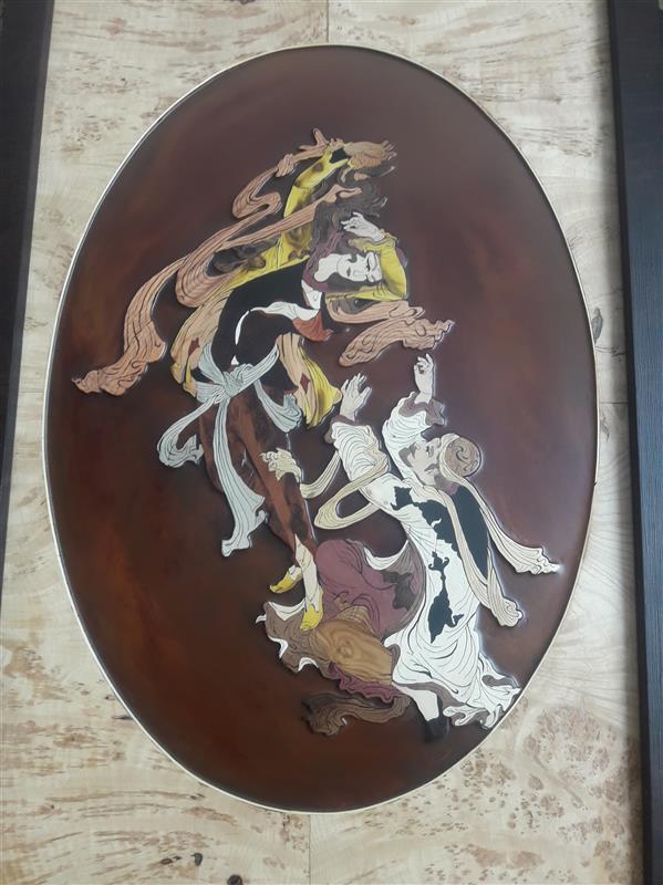 هنر سایر محفل سایر هنر ها مجید بابایان # معرق چوب تکنیک تفکیک رنگ  چوبهای بکار رفته افرا .کرات صورتی .عناب شمشاد.گردو  ابعاد ۶۰×۸۰