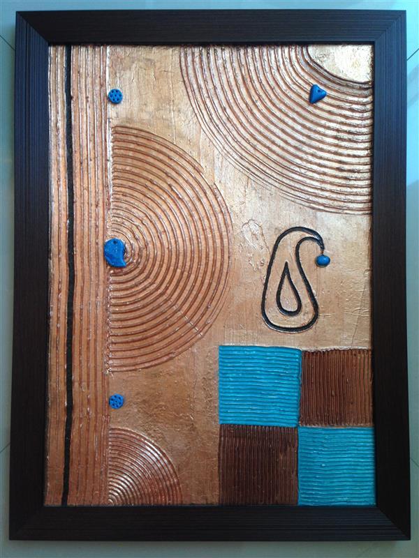هنر سایر محفل سایر هنر ها سارا طاعتیان تابلو نقش برجسته، تکنیک بافت یا تکسچر، متریال ورق مس و رنگ اکرلیک، ابعاد ٦٠ * ٨٠