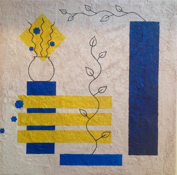 هنر سایر محفل سایر هنر ها سارا طاعتیان تابلوی دکوراتیو، نقش برجسته، تکنیک بافت یا تکسچر، ابعاد: ٩٠ * ٩٠