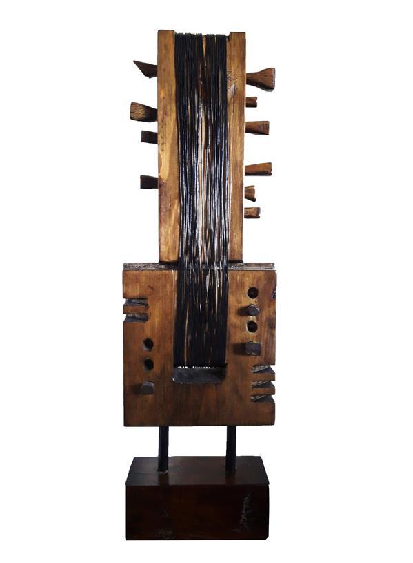 هنر سایر محفل سایر هنر ها رحمان احمدی ملکی #عنوان: موسیقی کلاسیک ( از مجموعه سمفونی سکوت) #ترکیب مواد (چوب و فلز) #هنرمند: رحمان احمدی ملکی
