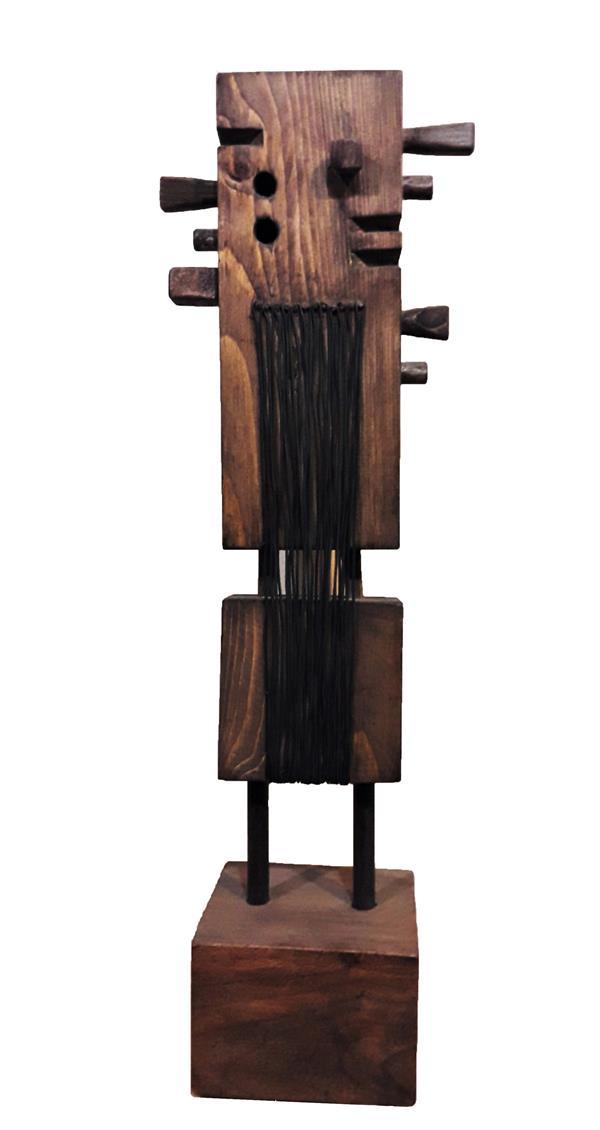 هنر سایر محفل سایر هنر ها رحمان احمدی ملکی #عنوان: انتظار مجنون(از مجموعه سمفونی سکوت) #ترکیب مواد (چوب و فلز) #هنرمند: رحمان احمدی ملکی