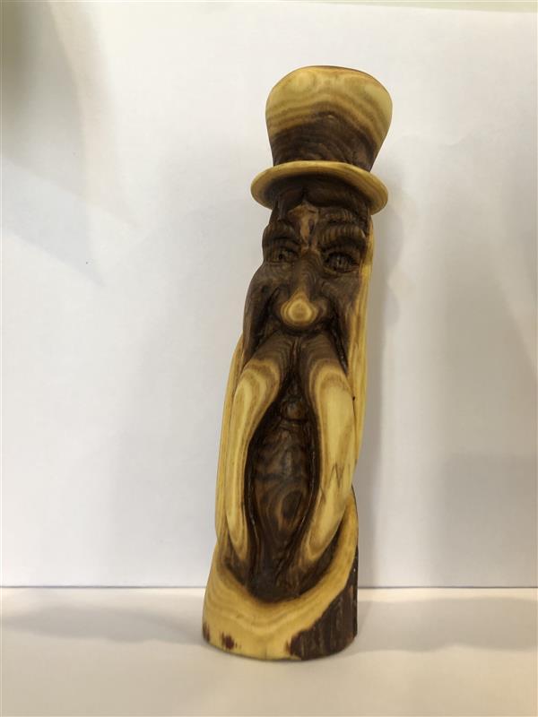 هنر سایر محفل سایر هنر ها محمد امام داد #پیکرتراشی چوب# carving wood spirits#مجسمه چوبی اقاقیا خلقت: ۱۴۰۰