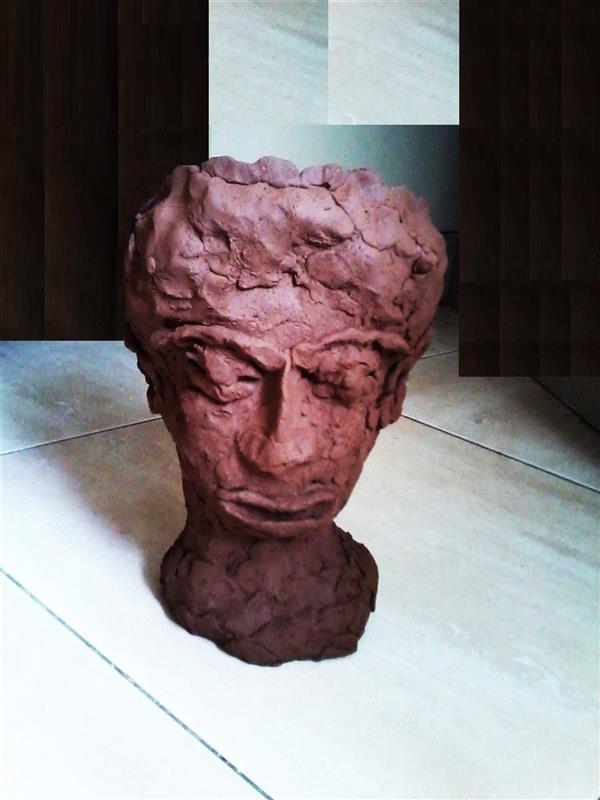 هنر سایر محفل سایر هنر ها delaram ardalan عنوان مجسمه: انسان پشیمان، دلارا اردلان