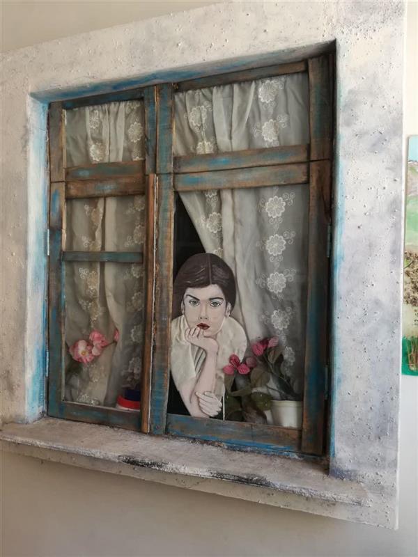 هنر سایر محفل سایر هنر ها صابر تیموری زاده تابلو برجسته (چوب، پارچه، رنگ...)