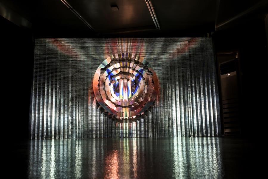 هنر سایر محفل سایر هنر ها گالری والی Siavash Hatam Hollow,2019 Video art and installation Iron,Galvanized,wire tow   cm 300 x200