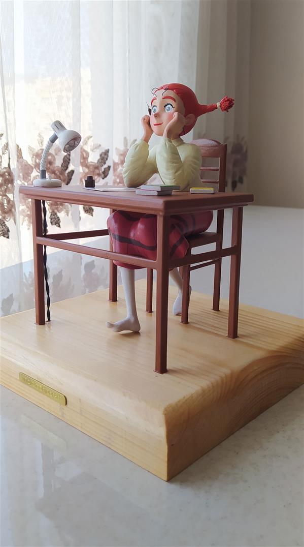 هنر سایر محفل سایر هنر ها مجید مهجور مجسمه جودی آبوت ابعاد 21 در 21 سانتیمتر متریال : خمیر هوا خشک چراغ مطالعه روشن میشود.