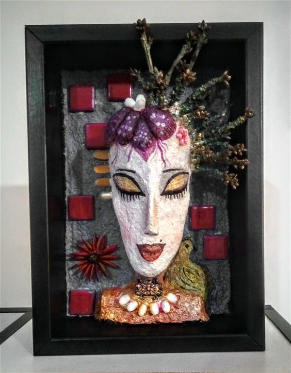 هنر سایر محفل سایر هنر ها سمیرا کمرروستا مجسمه صورت. جنس پایه ماشه و چوب  ابعاد۲۰در ۴۰ سمیرا روستا#