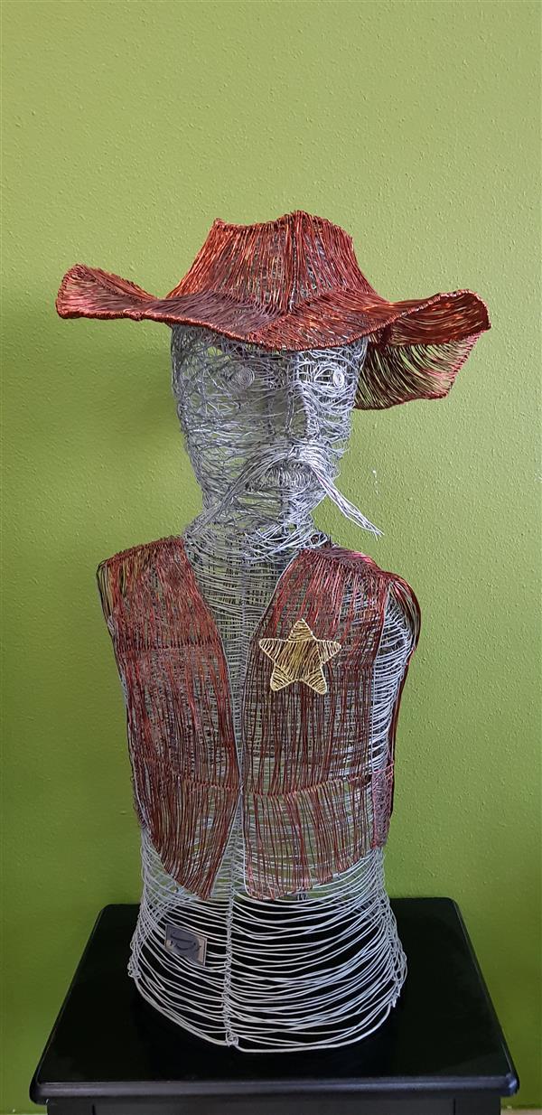 هنر سایر محفل سایر هنر ها سحر مهدوی متریال :سیم گالوانیزه و سیم مسی ابعاد۳۵×۷۰