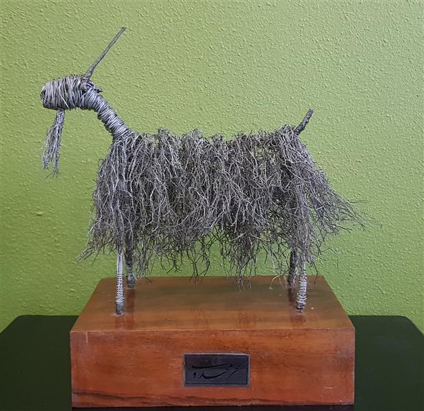 هنر سایر محفل سایر هنر ها سحر مهدوی متریال سیم گالوانیزه ابعاد ۲۰×۱۶  پایه چوب