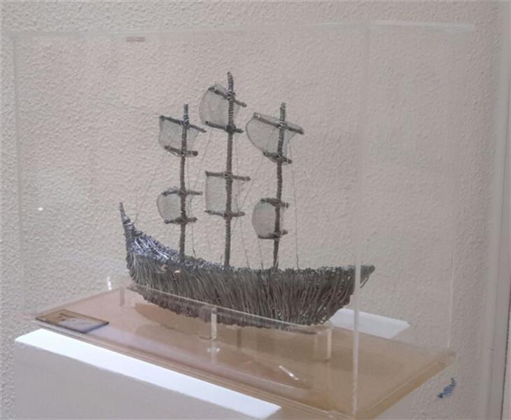 هنر سایر محفل سایر هنر ها سحر مهدوی #حجم متریال سیم  ابعاد۳۰×۴۰ ،کشتی بادبانی