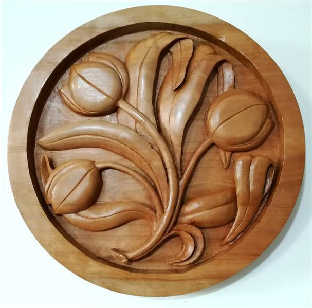 هنر سایر محفل سایر هنر ها نرگس طوسی #منبت _ساخته شده از چوب بارانک