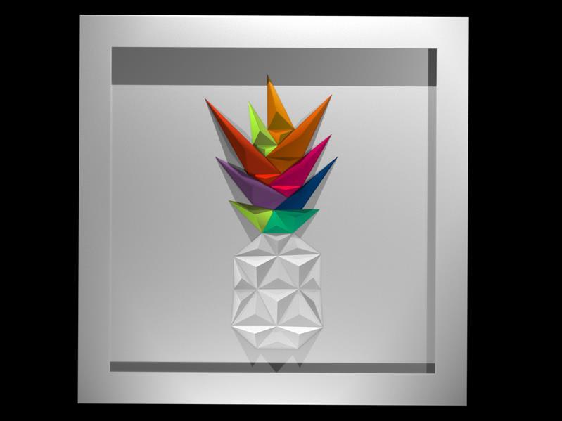هنر سایر محفل سایر هنر ها امیر بابائی تابلو نقش برجسته (مثلث بندی با تکنیک اوریگامی )  خلق اثر : 1399  نام اثر:pineapple  متریال : مقوا فابریانو (220g)  خالق اثر : امیر بابائی