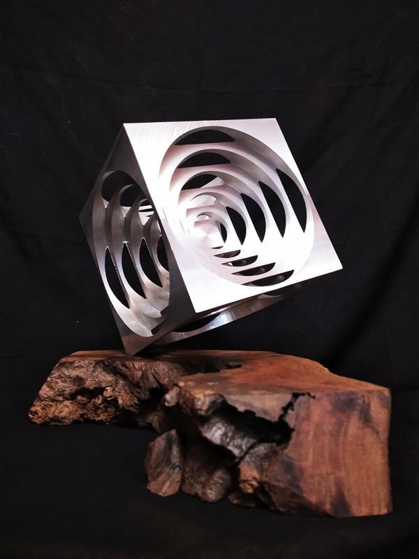 هنر سایر محفل سایر هنر ها هنگامه چنگیزی طراحی ساخت منحصر بفرد .تلفیق فلز وچوب .