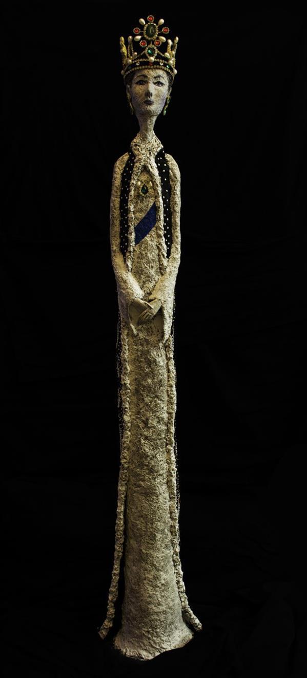 هنر سایر محفل سایر هنر ها مژگان خسروی ترکیب مواد 1398 ملکه مژگان خسروی