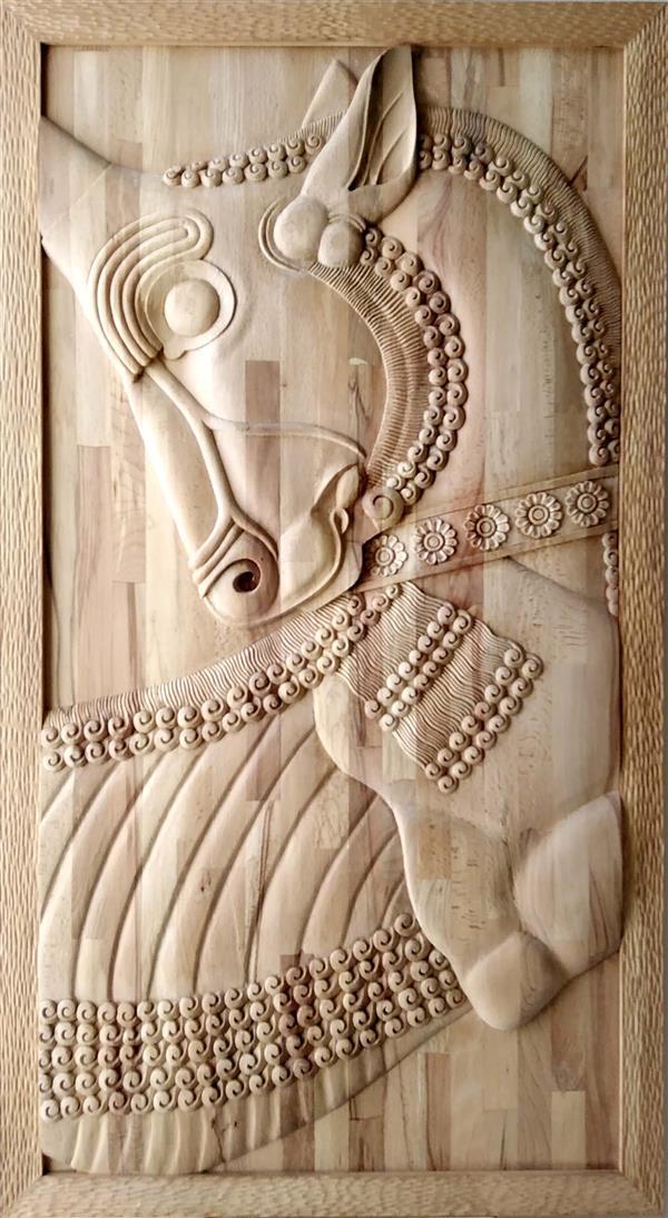 هنر سایر محفل سایر هنر ها مرتضی افشاری #منبت، چوب راش، 1398،نوروز،تخت جمشید