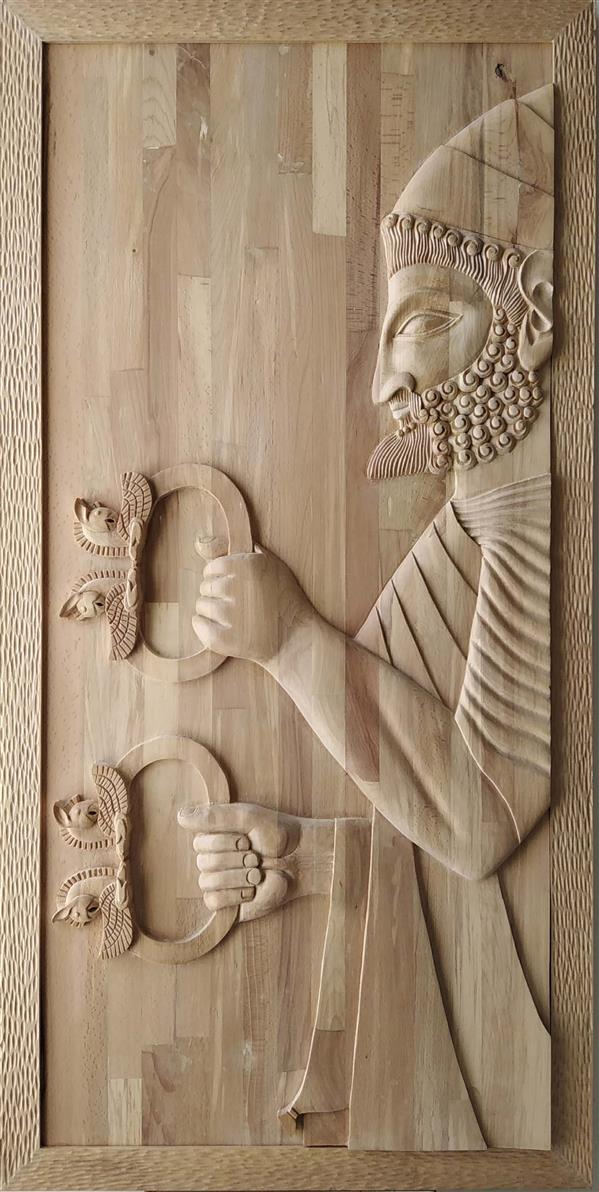 هنر سایر محفل سایر هنر ها مرتضی افشاری #منبت، چوب راش، سال1398، نوروز، تخت جمشید