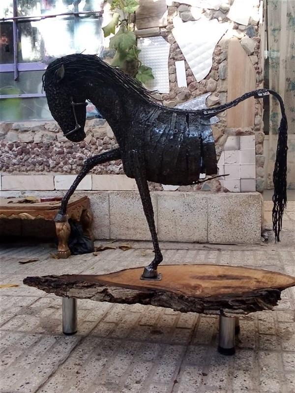 هنر سایر محفل سایر هنر ها مجید ایروانی سازنده مجید ایروانی،1399,اسبه نیم تنه،متریال ,