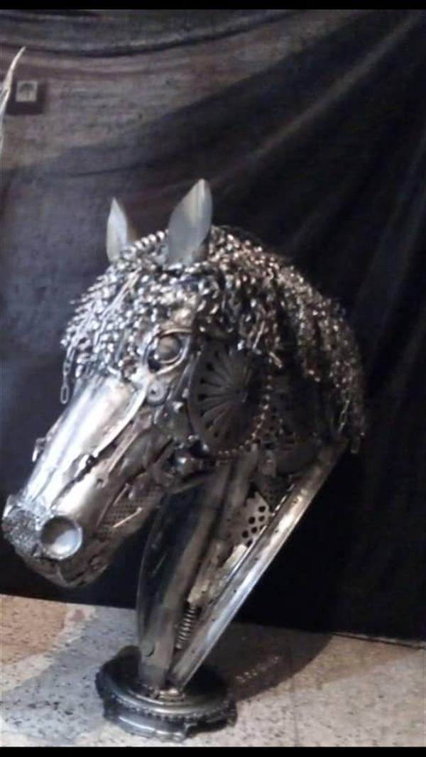 هنر سایر محفل سایر هنر ها مجید ایروانی ضایعاته فلز*1400*سردیسه اسب*مجید ایروانی*
