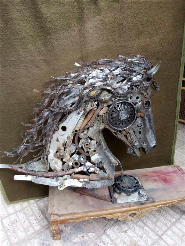 هنر سایر محفل سایر هنر ها مجید ایروانی ضایعاته فلز،سنگ،چوب،هر دو طرف کامل، ۱۳۹۹ اسبه به نام پدر مجید ایروانی #فروخته_شد
