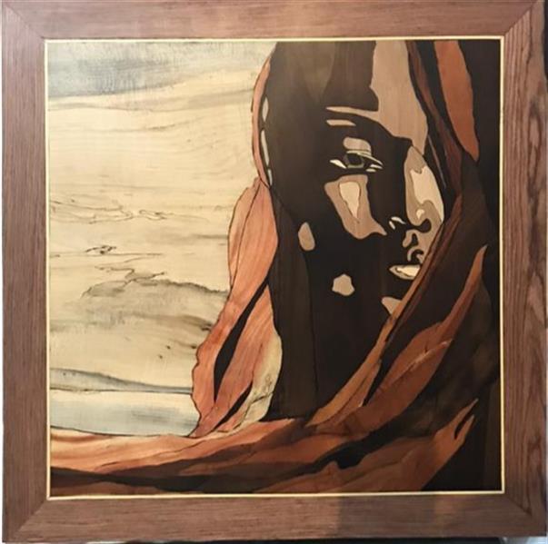 هنر سایر محفل سایر هنر ها فاطمه وصالی  تابلو دیواری،تمام،چوب ۱۳۹۷ دختر سیاه