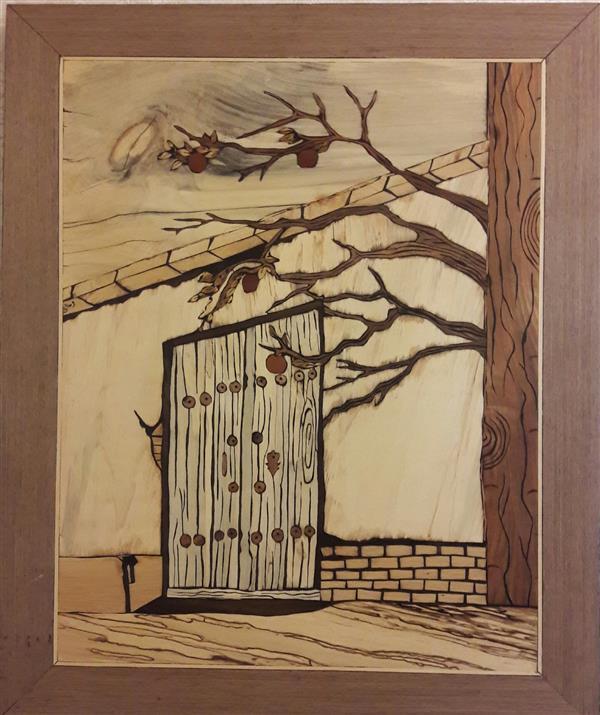 هنر سایر محفل سایر هنر ها فاطمه وصالی  تابلو #معرق_چوب  طرح در قدیمی، با تکنیک تفکیک رنگ 70*50 چوب های استفاده شده:گردو،افرا،عناب،ممرز و ...  چوب های استفاده شده:ممرز،افرا،گردو،عناب و...