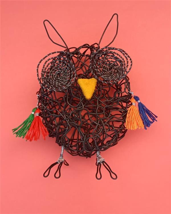 هنر سایر محفل سایر هنر ها فاطمه یعقوبی مجسمه فلزی دستساز جغدشاخدار #مجسمه#جغد