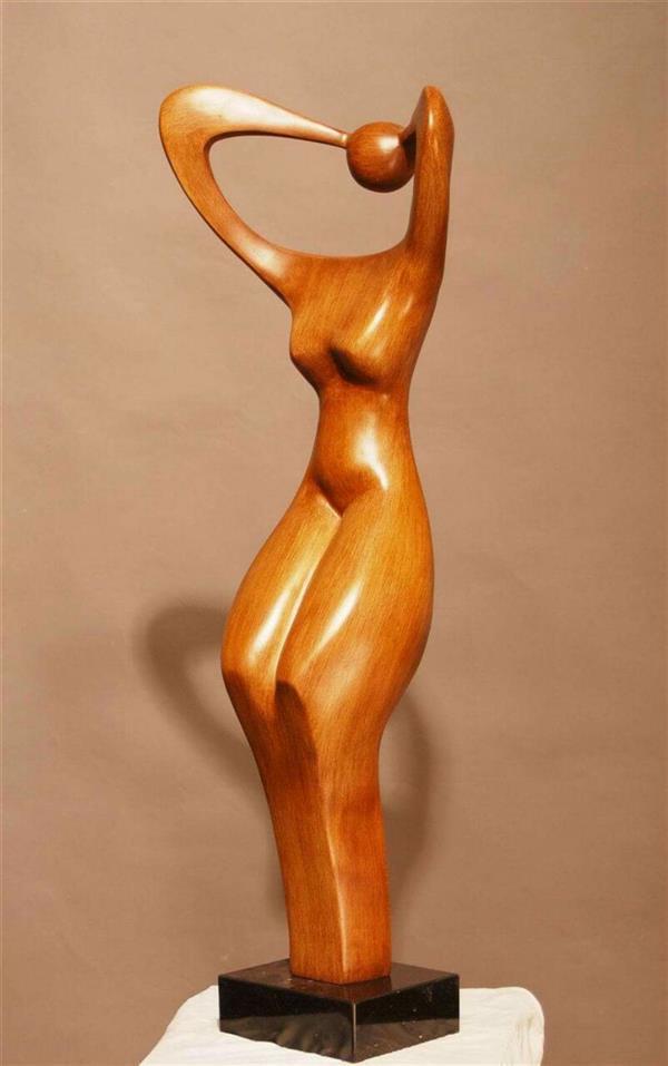 هنر سایر محفل سایر هنر ها مجید قراگوزلو مجسمه چوب کنده کاری.بی نام.مجید قراگوزلو