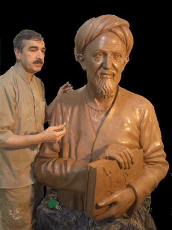 هنر سایر محفل سایر هنر ها حسین خیرآبادی مجسمه سعدی شیرازی جنس فایبر گلاس ارتفاع 120 سانت #مجسمه_سازی #مجسمه #نقاشی #سیاه_قلم