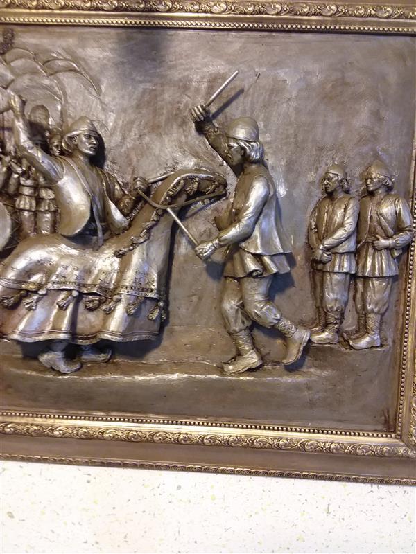 هنر سایر محفل سایر هنر ها حسین خیرآبادی آیین اسب چوبی نقش برجسته  نقش برجسته#مجسمه# اسب چوبی#خیرآبادی#