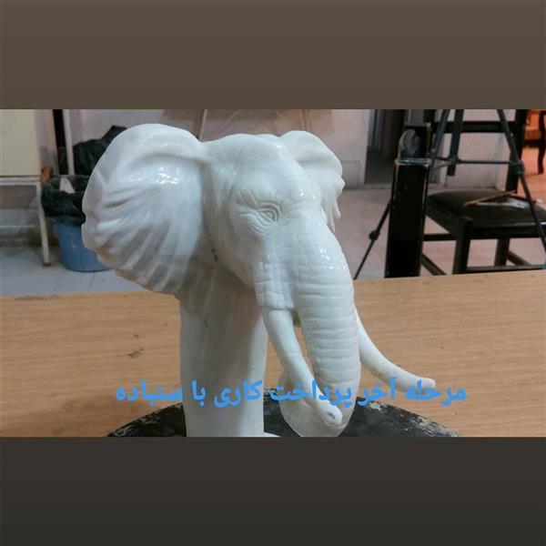 هنر سایر محفل سایر هنر ها حسین خیرآبادی محسمه فیل تراش سنگ