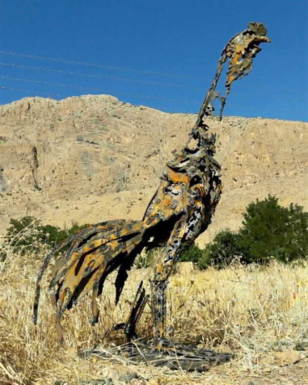 هنر سایر محفل سایر هنر ها محمدعلی آزادی خروس جنگی متریال ضایعات آهن ارتفاع ۱/۲۰سانتیمتر