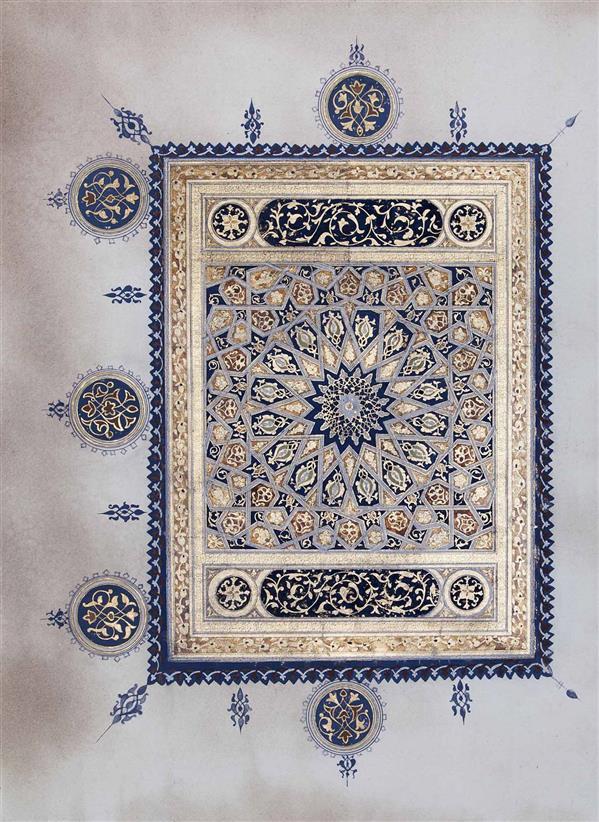 هنر سایر محفل سایر هنر ها سیده زینب احمدی مثنی تذهیب دوره سلجوقی،به سفارش آفرینش های هنری آستان قدس رضوی.