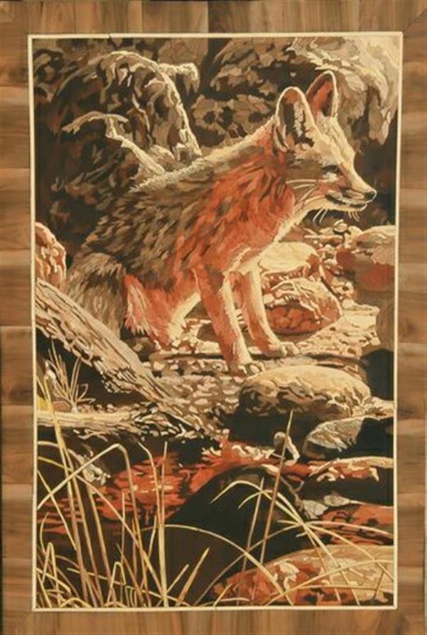 هنر سایر محفل سایر هنر ها الهام گودرزی تابلوی معرق چوب سایز: ۶۰×۹۰ چوبهای بکار رفته: عناب، گردو، نارنج، پرتغال، اقاقیا