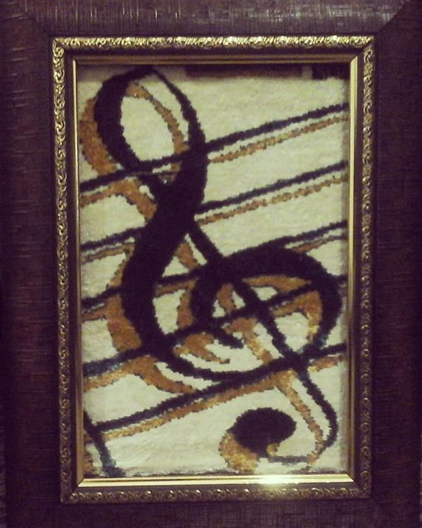 هنر سایر محفل سایر هنر ها مرتضی احمدی تابلو فرش ابریشم کلید سل در ابعاد 30*40