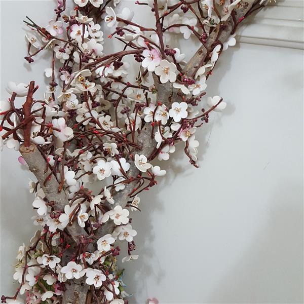 هنر سایر محفل سایر هنر ها زینب اصلی درخت شکوفه سیب ساخته شده از سیم وچوب و فوم