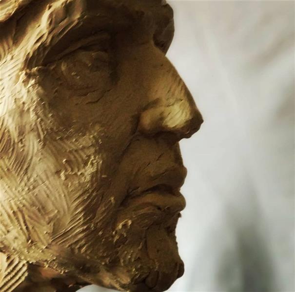 هنر سایر محفل سایر هنر ها صالح موسویان ساخت پرتره سردار عیوض، مرحله مدلسازی، مقیاس ابعاد انسانی ۱۳۹۶