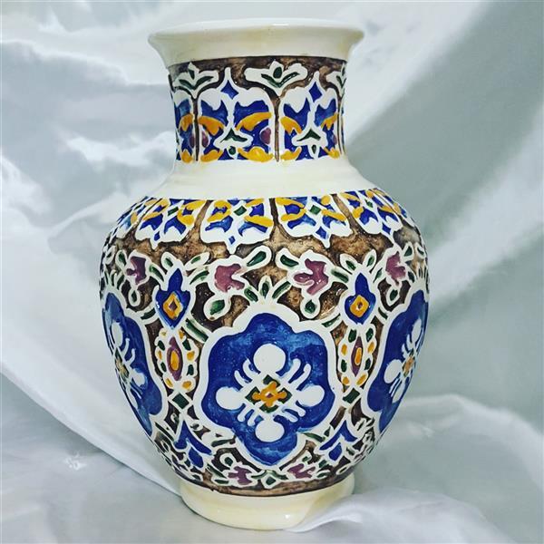 هنر سایر محفل سایر هنر ها عباس عبادی نطنزی گلدان بلونی متوسط طرح اسلیمی